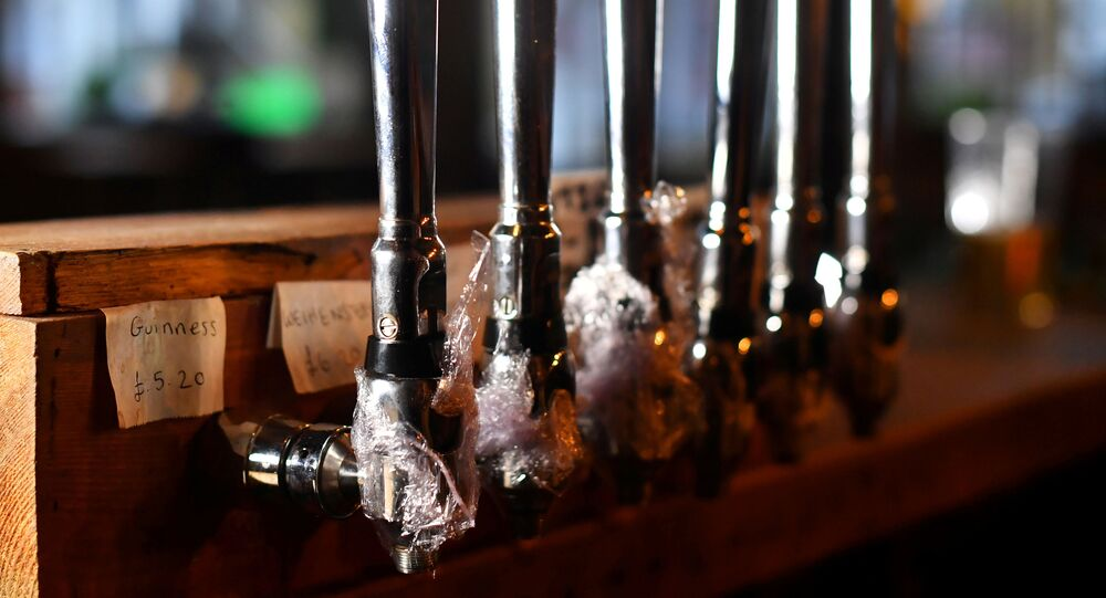 Some beer taps are covered at The Prince, a pub friends Steve Pond and Dominic Townsend share an apartment above and say are lucky enough to be stuck in during lockdown as the coronavirus disease (COVID-19) continues in London, Britain April 28, 2020.