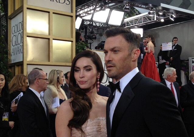 Megan Fox and Brian Austin Green at the Golden Globes 2013