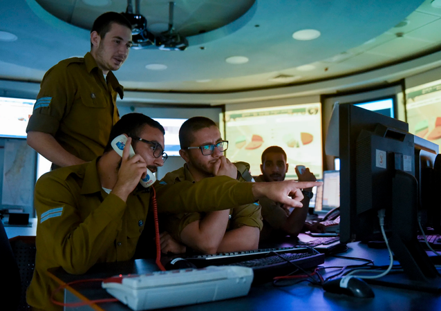 Israel Defense Forces cyberdefence troops. File photo.