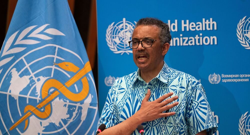 Tedros Adhanom Ghebreyesus, Director General of the World Health Organization (WHO) attends the virtual 73rd World Health Assembly (WHA) during the coronavirus disease (COVID-19) outbreak in Geneva, Switzerland, May 19, 2020.