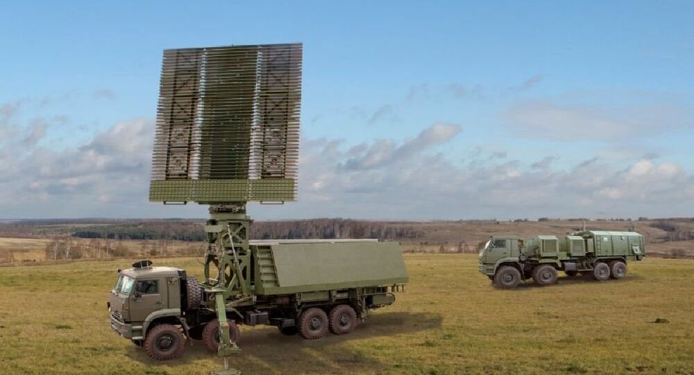 Russian arms exporter Rosoboronexport showcases its newest radar, which can easily detect a wide range of aerial objects, including hypersonic targets