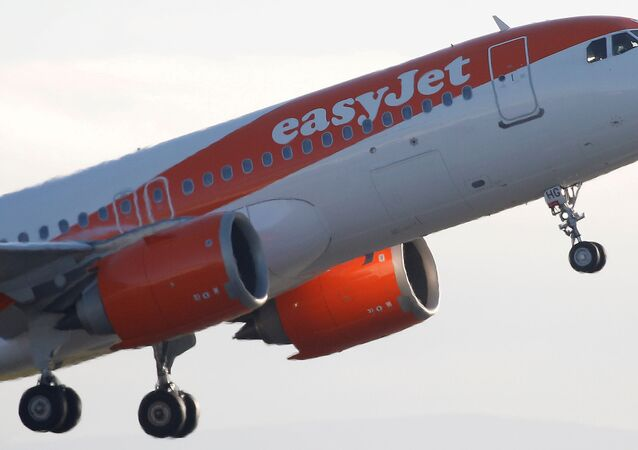 An Easyjet plane takes off from Manchester Airport in Manchester, Britain, 20 January 2020.