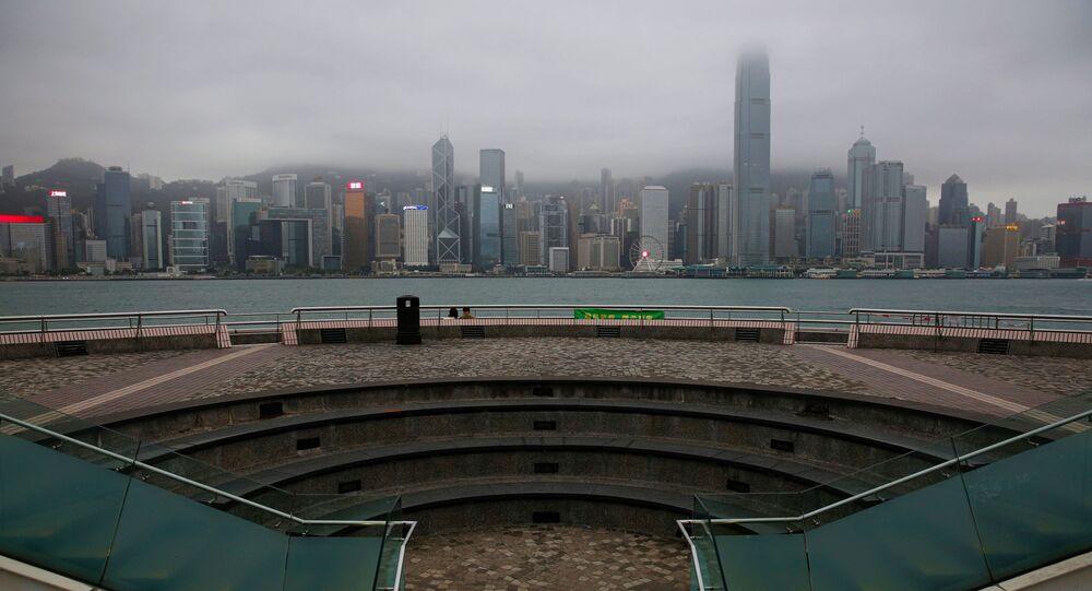 A general view of a tourist attraction at Tsim Sha Tsui, following the novel coronavirus disease (COVID-19) outbreak, in Hong Kong, China April 2, 2020