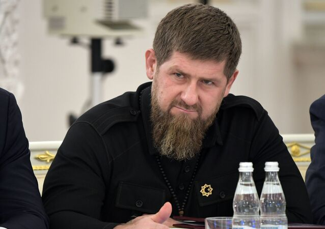 Head of Chechnya Ramzan Kadyrov at the meeting of Russian state council on agricultural policy in December 2019