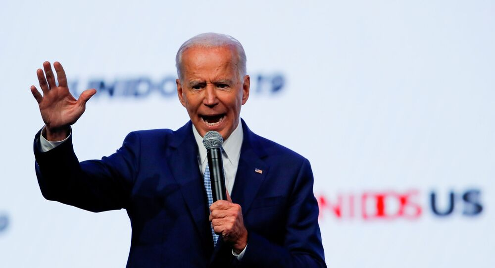 Democratic 2020 presidential candidate and former U.S Vice President Joe Biden gestures as he speaks at the UnidosUS Annual Conference, in San Diego, California, U.S., August 5, 2019.