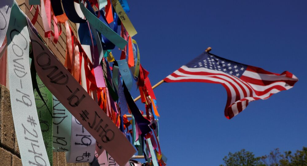 Prayer ribbons for the over 6,000 Massachusetts residents who have died from the coronavirus disease (COVID-19) hang at Grant AME Church in Boston, Massachusetts, U.S., May 22, 2020.