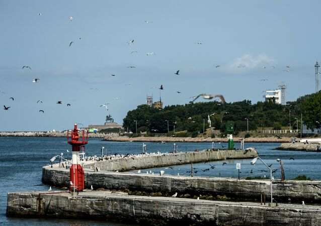 A pier in Baltiysk, Kaliningrad region.