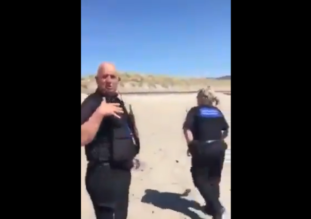Police caught woman travelling to Welsh beach from England amid Coronavirus lockdown.