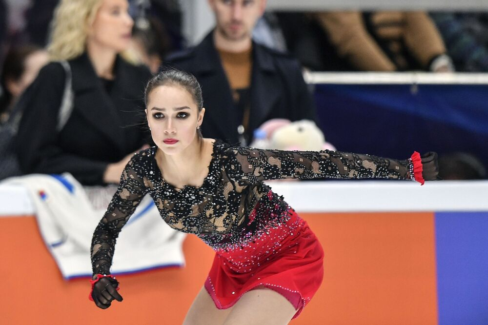 Zagitova's free programme at the Moscow Grand Prix of figure skating.