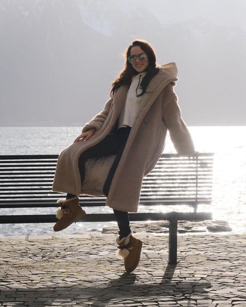Alina Zagitova by the seaside.