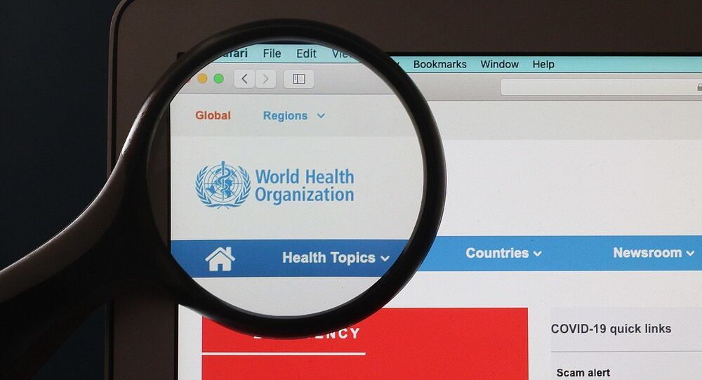 WHO World Health Organization website on Coronavirus pandemic COVID-19