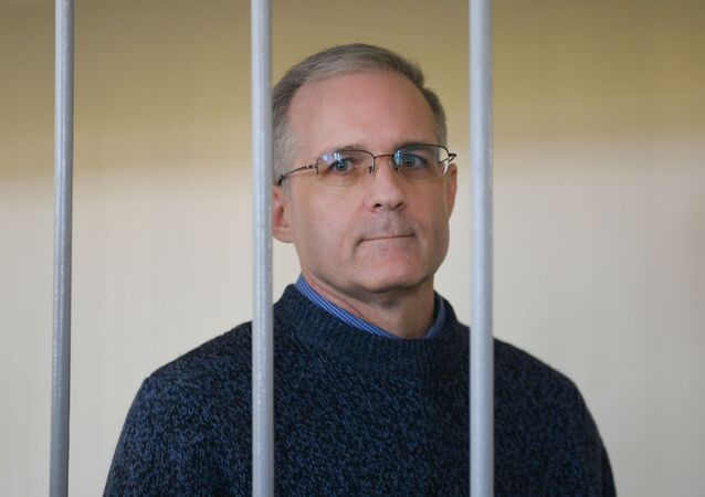 U.S. Paul Whelan waits in a courtroom as the court considers requests to extending his arrest until October 28, at the Lefortovsky Court, in Moscow, Russia. Whelan was accused of espionage and detained by the Russian Federal Security Service on December 28, 2018