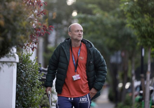 Dominic Cummings, special advisor for Britain's Prime Minister Boris Johnson returns to his house in London, following the outbreak of the coronavirus disease (COVID-19), London, Britain, 24 May 2020.