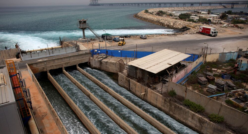 Brine water flows into the Mediterranean Sea after passing through a desalination plant in the coastal city of Hadera May 16, 2010