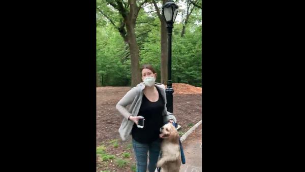 Amy Cooper, subject of viral dispute over leash law  - Sputnik International