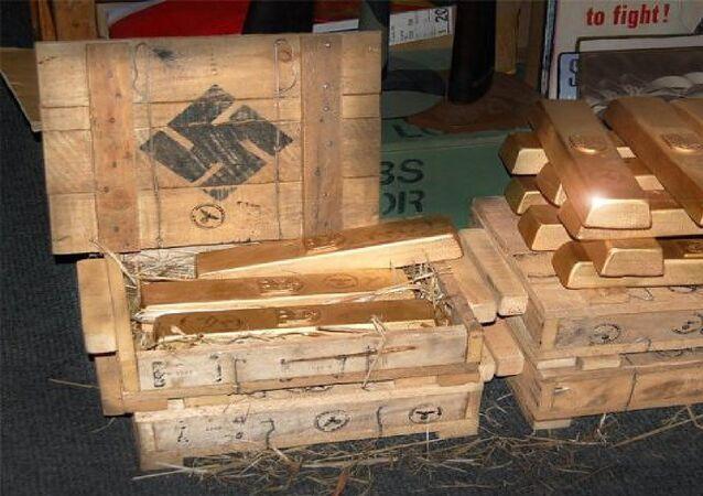 Replicas Nazi gold bullion.