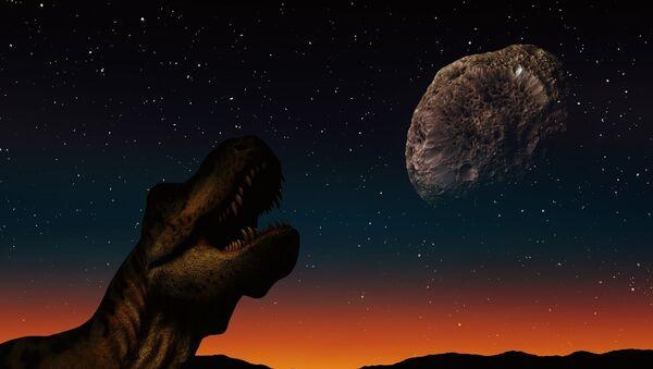 Dinosaur and asteroid - Sputnik International