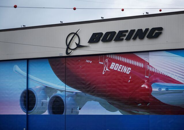 A Boeing logo is seen at the company's facility in Everett, Washington, U.S. January 21, 2020.