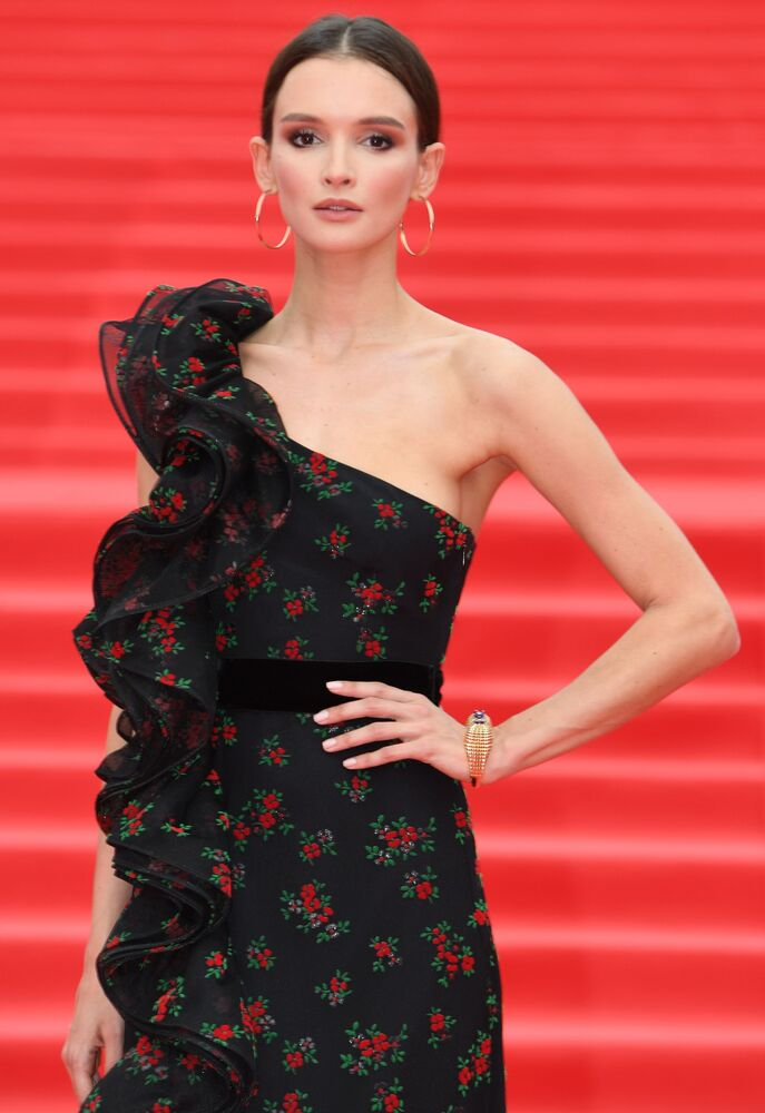 Russian actress Paulina Andreyeva during the closing ceremony of the 39th Moscow Film Festival