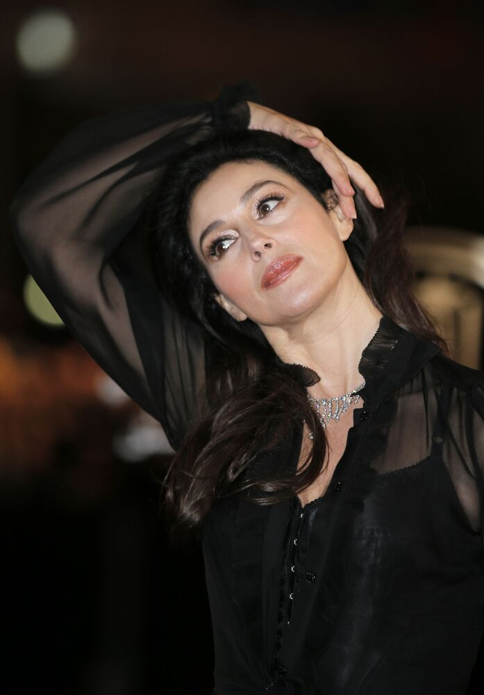 Italian actress Monica Bellucci arrives at the Marrakech International Film Festival in Marrakech, Morocco, Saturday, Dec. 1, 2012 at the Marrakech Congress Palace.