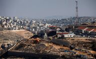 A general view picture shows a construction site in the Israeli settlement of Efrat in the Gush Etzion settlement block in the Israeli-occupied West Bank January 28, 2020.