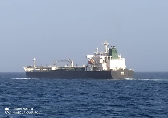 Iranian tanker Faxon is being escorted by Venezuelan Navy ships