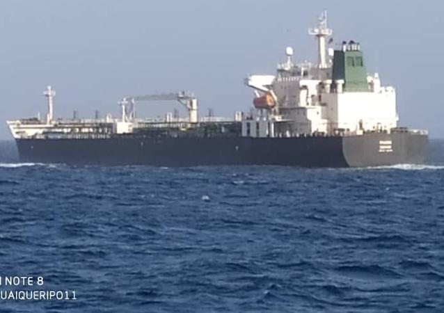 Iranian tanker Faxon is being escorted by Venezuelan Navy ships