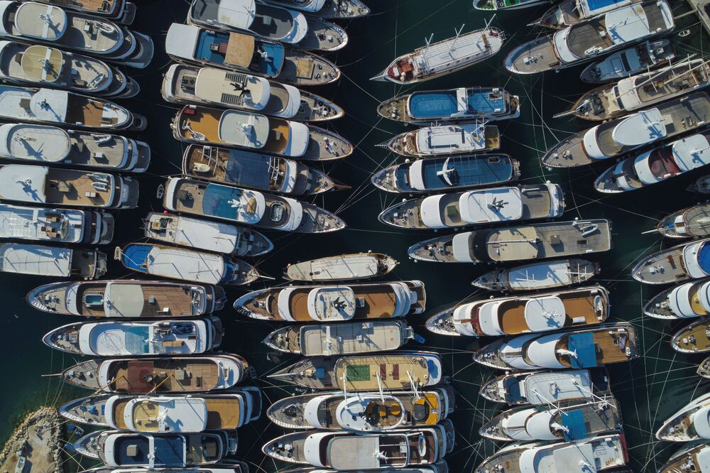 Small luxury yachts are seen in Krilo Jesenice marina, following the outbreak of the coronavirus disease (COVID-19), Croatia, 25 May  2020.