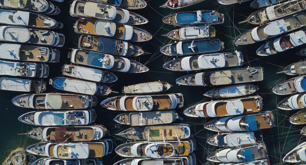 Yachts on a berth