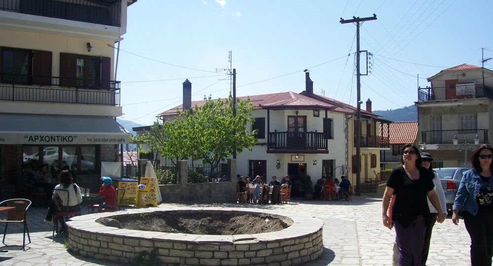 Spilaio Central Square. Grevena