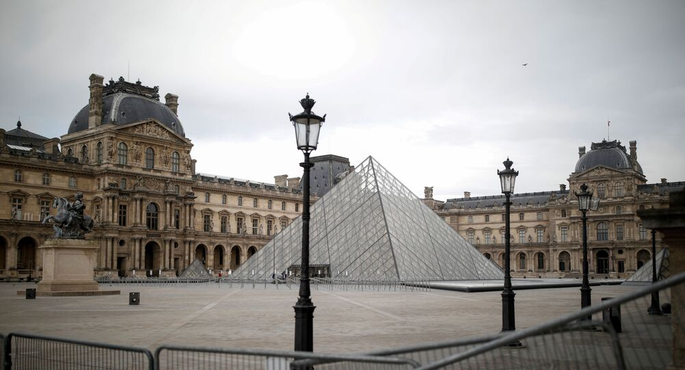 The glass Pyramid of the Louvre museum in Paris