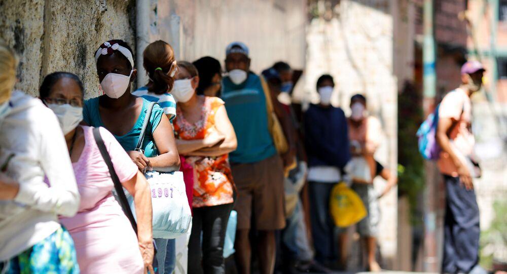 People in the slum of Carapita in Caracas