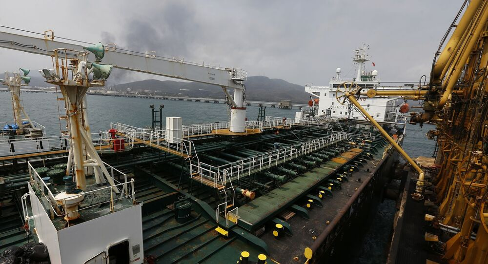 Iranian oil tanker Fortune is anchored at the dock of the El Palito refinery near Puerto Cabello, Venezuela, Monday, May 25, 2020
