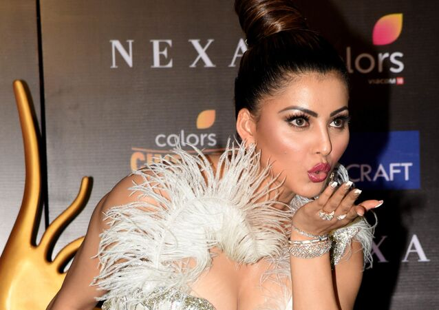 Bollywood actress Urvashi Rautela arrives for the 20th International Indian Film Academy (IIFA) Awards at NSCI Dome in Mumbai on September 18, 2019