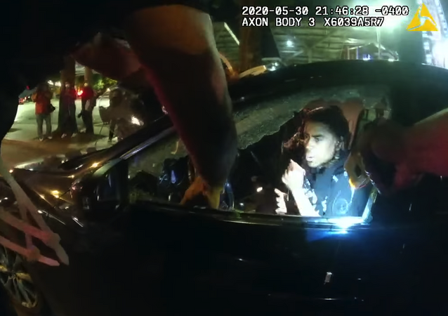 This is one officer's body camera footage released by the Atlanta Police Department showing the incident where two students were tased and pulled from their car in Downtown on May 30 during the George Floyd protests.