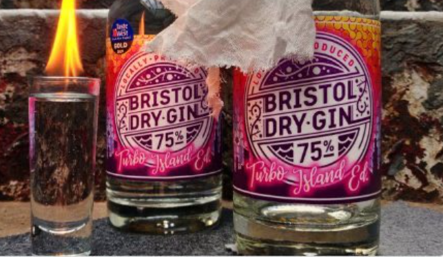 Screenshot of Bristol Dry Gin deleted 'Looting-Themed' PR-campaign photo on Twitter