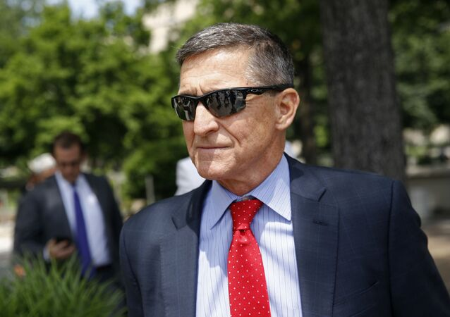 Michael Flynn, President Donald Trump's former national security adviser, departs a federal courthouse after a hearing, Monday, June 24, 2019, in Washington.
