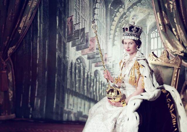Queen Elizabeth II during coronation