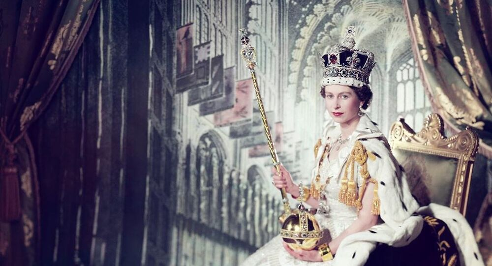 Queen Elizabeth II during coronation