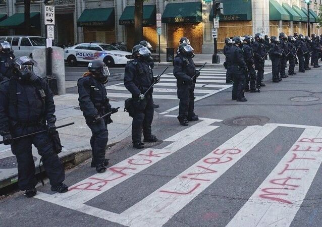 US Riot Police in Washington During Floyd Protests