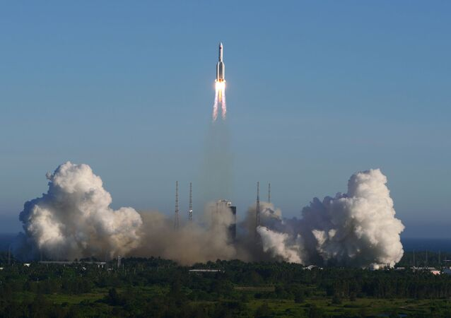 The Long March 5B carrier rocket takes off from Wenchang Space Launch Center in Wenchang, Hainan Province, China May 5, 2020