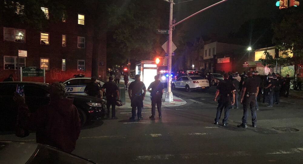 Police-involved shooting in the Crown Heights neighbourhood of Brooklyn, New York City, United States, 2 June 2020.