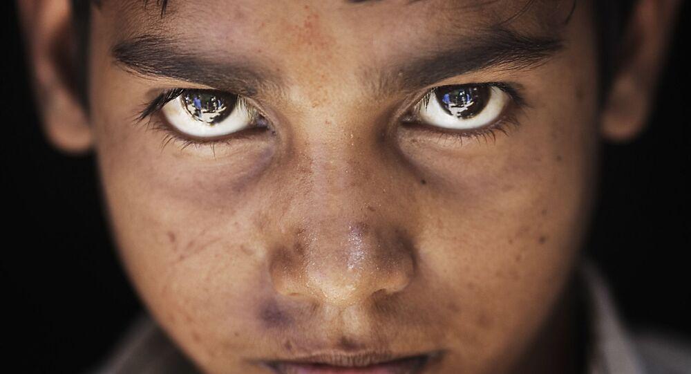India - Varanasi dark hair boy