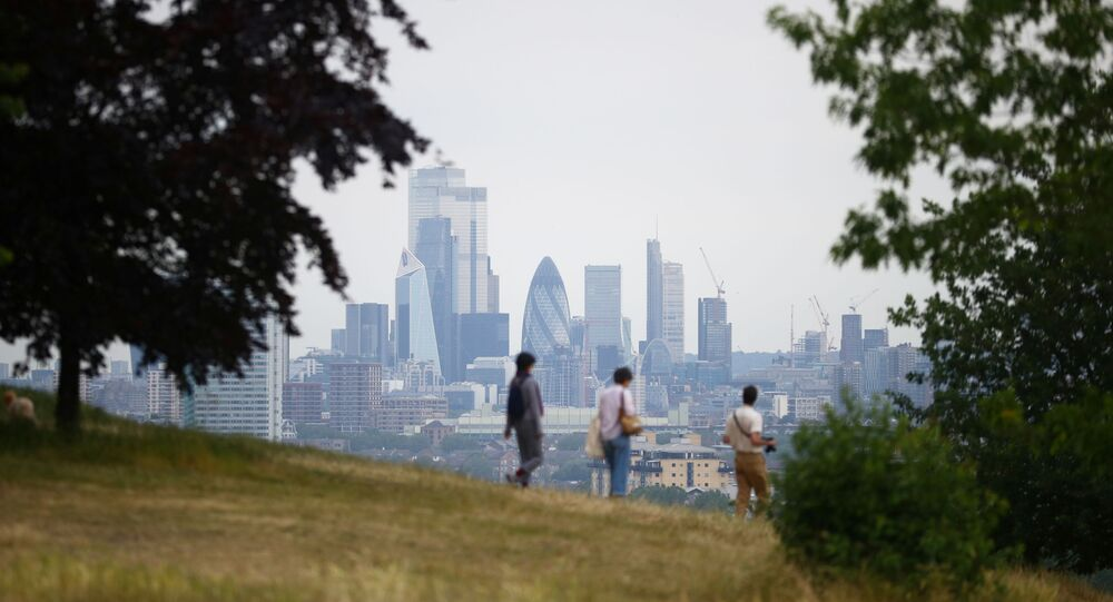 The City of London is seen from Greenwich Park, following the outbreak of the coronavirus disease (COVID-19), London, Britain, June 3, 2020. REUTERS/Hannah McKay
