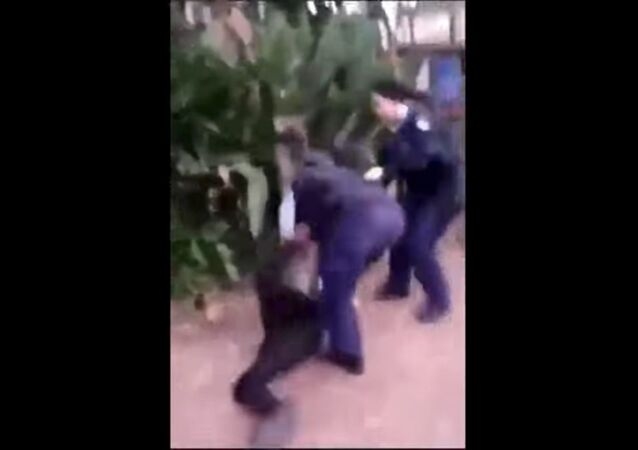 Cellphone footage captures an unidentified New South Wales police officer body-slamming an Aboriginal teenager onto the ground face-first.