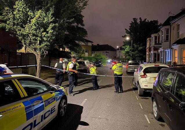 London police on the crime scene