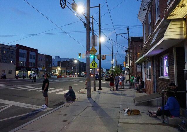 The Fishtown neighborhood of Philadelphia, Pennsylvania, United States.