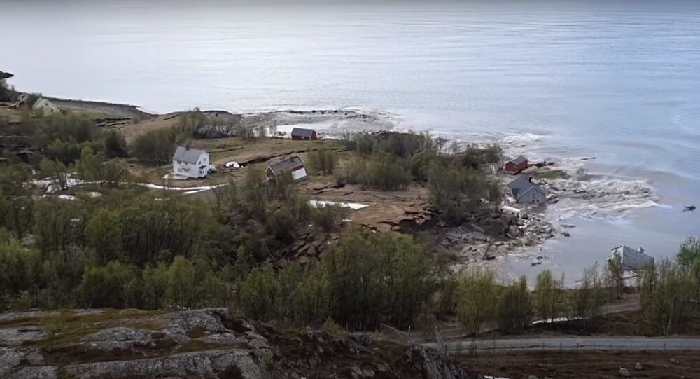Landslide in Arctic Norway sweeps away 8 homes