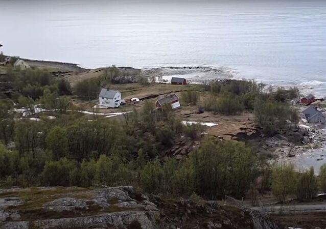Landslide in northern Norway 3rd of June 2020