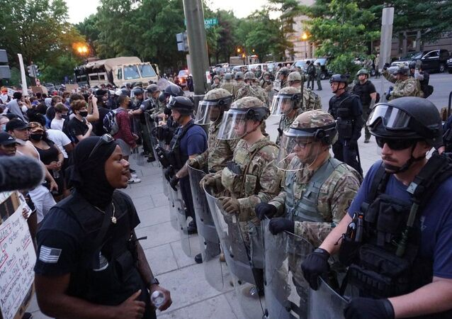 Protests over George Floyd's death in Washington DC on 3 June 2020
